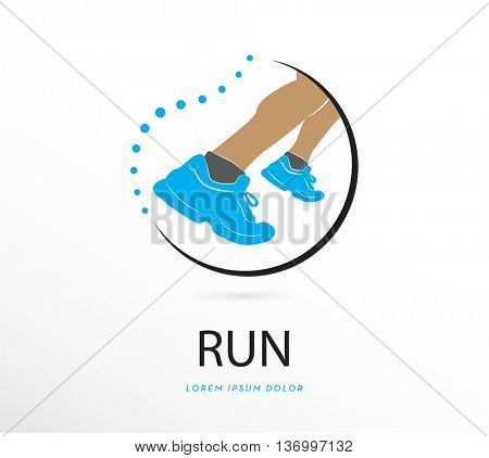 vector silhouette running , icon / logo