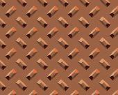 Diamond Plate Short Copper poster