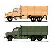 foto of humvee  - A vector illustration two hevavy army trucks - JPG