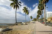 stock photo of malecon  - the malecon boulevard santo domingo dominican republic - JPG