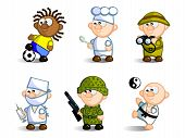 picture of naturalist  - A set of cartoon figures - JPG