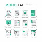 Web Development Monoflat Icons poster