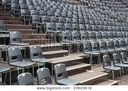 Closeup Of Chairs Before Openair Concert