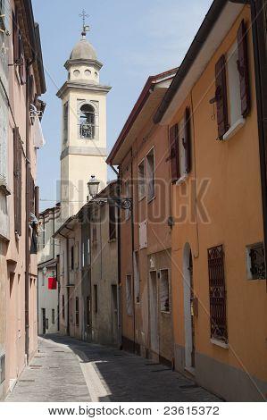 Sogliano Al Rubicone (forli - Cesena, Emilia-romagna, Italy) - Street And Belfry