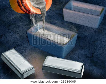 Bastidor de lingote de plata