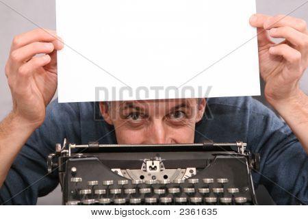 Man Show Blank White Sheet