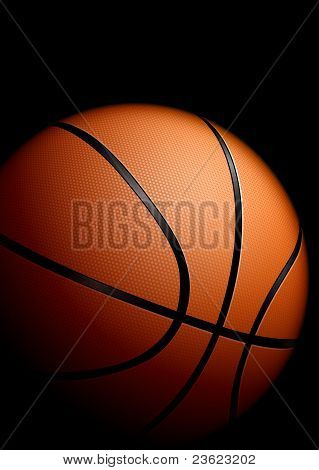 High detailed basketball