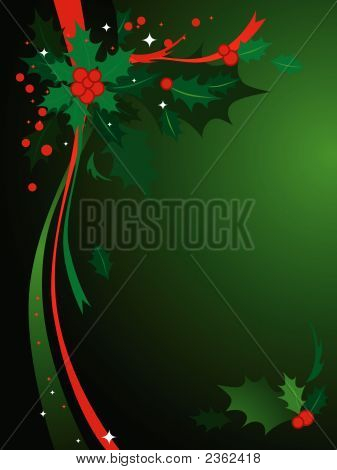 Christmas Holly Background #3