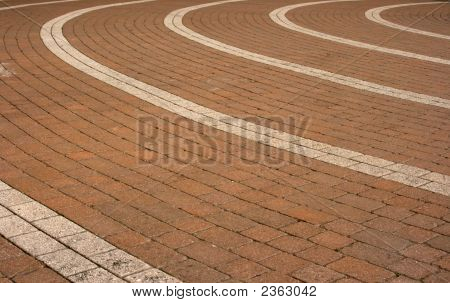 Circular Block Paving Pattern