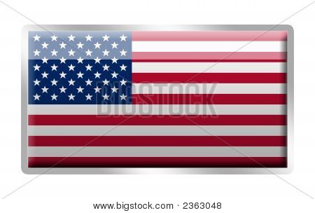 United States Of America Flag Metal Enamel Badge