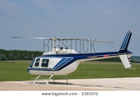 Helicopter At Airfield