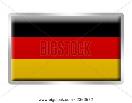 German Flag Enamelled Metal Badge