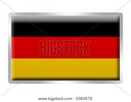 German Flag Enamelled Metal Badge