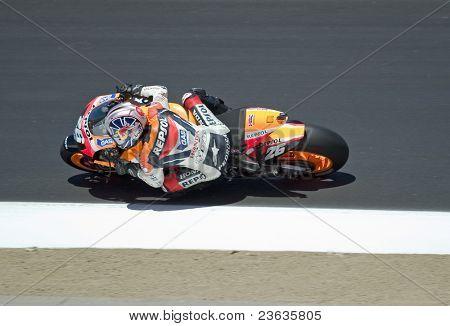 Dani Pedrosa Moto Grand Prix in Laguna Seca, California
