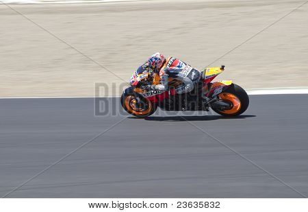 Dani Pedrosa Motorcycle Grand Prix in Laguna Seca, California