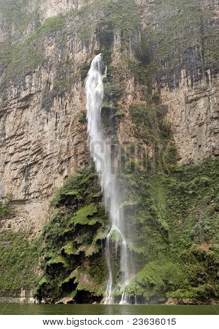 This fall is called Christmas tree, is in the sumidero Canyon, Chiapas Mexico