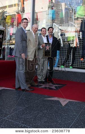 LOS ANGELES - SEP 19:  John Henson, Carl Reiner, Jon Cryer, Chuck Lorre at the Jon Cryer Hollywood Walk of Fame Star Ceremony at Hollywood Walk of Fame on September 19, 2011 in Los Angeles, CA