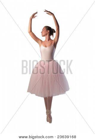 Beautiful ballerina dancing