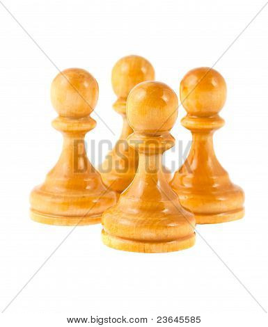 Four White Pawns