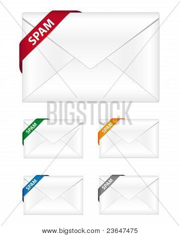 Spam newsletter icons