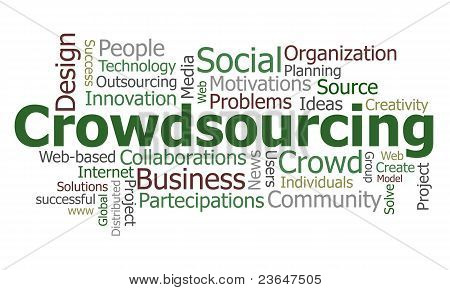 Crowdsourcing word cloud