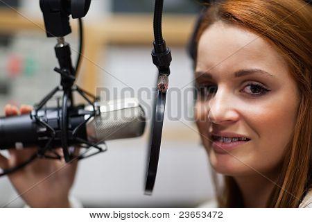 Radio Host Posing