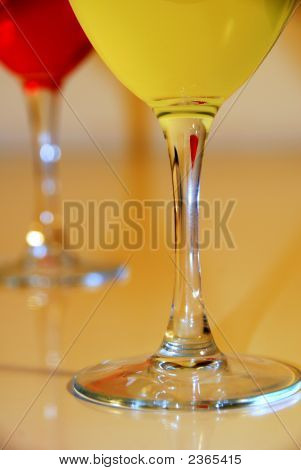 Celebrate With Drinks In Wine Glasses