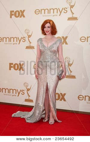 LOS ANGELES - SEP 18:  Christina Hendricks arriving at the 63rd Primetime Emmy Awards at Nokia Theater on September 18, 2011 in Los Angeles, CA