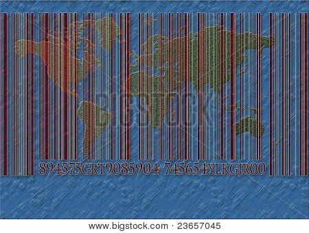 the world with a bar code