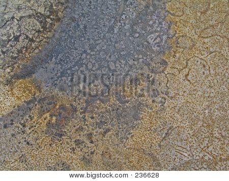 Burnt & Rusted Metal Panel