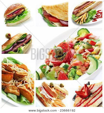 Restaurant Food Collage
