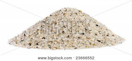 Pile Of Sand Quartz Mix With Rock