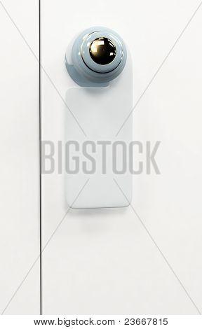 3d tablet on the door handle
