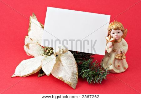 Christmas Decoration With Blank Gift Tag 2