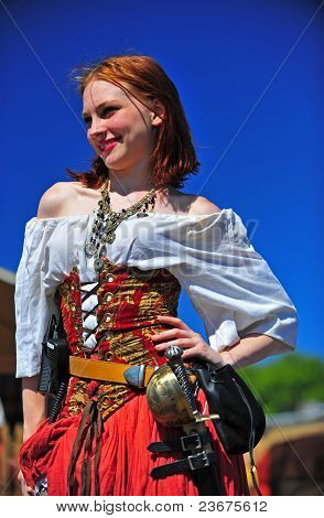Portland OR Pirates Festival beautiful smiling Wench