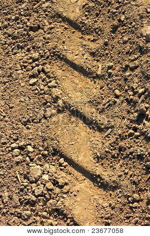 Tread pattern on soil