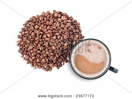 Hot Coffee Cup With Clipping Path