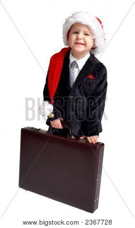 Young Businessman Ready For Christmas.