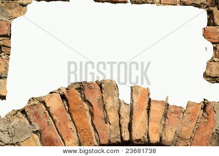 White Card Background With Brick