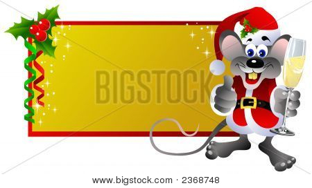 Rata de etiqueta de Navidad