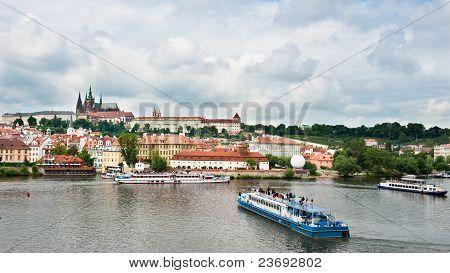 Prague View From Bridge