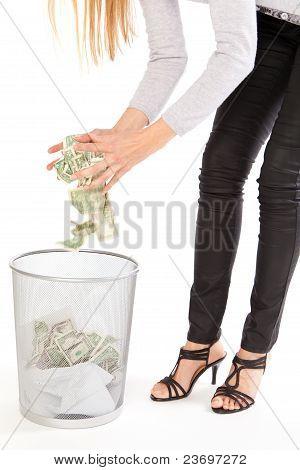 Discarding money