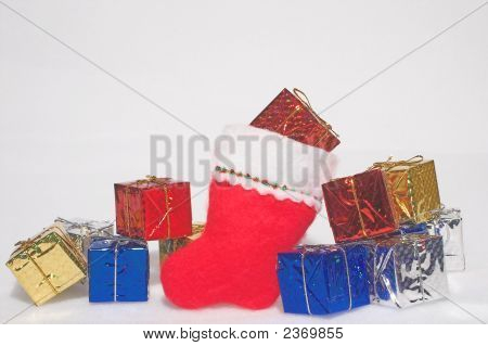 Christmas Presents In A Stocking
