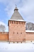 Kopytinskaya Tower. Fortress Wall And Tower, Part Of The Defensive Works Of The Ancient City Of Smol poster