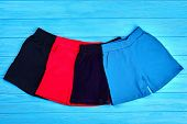 Set Of Colored Summer Shorts For Kids. Collection Of New Brand Cotton Short Pants For Children. Hot  poster