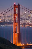 foto of golden gate bridge  - Golden Gate at Dusk 03 - JPG