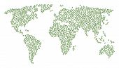 Continental Pattern Map Created Of Plant Tree Items. Vector Plant Tree Scatter Flat Pictograms Are C poster