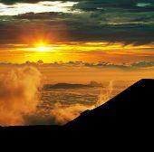 Постер, плакат: Закат на Мауна Кеа Гавайи