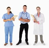 stock photo of medical staff  - Portrait Of Medical Staff In Studio - JPG