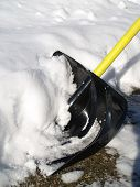 picture of snow shovel  - Shovel lots of snow off the path - JPG